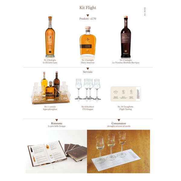 Distilleria Marzadro Grappa Flight Kit