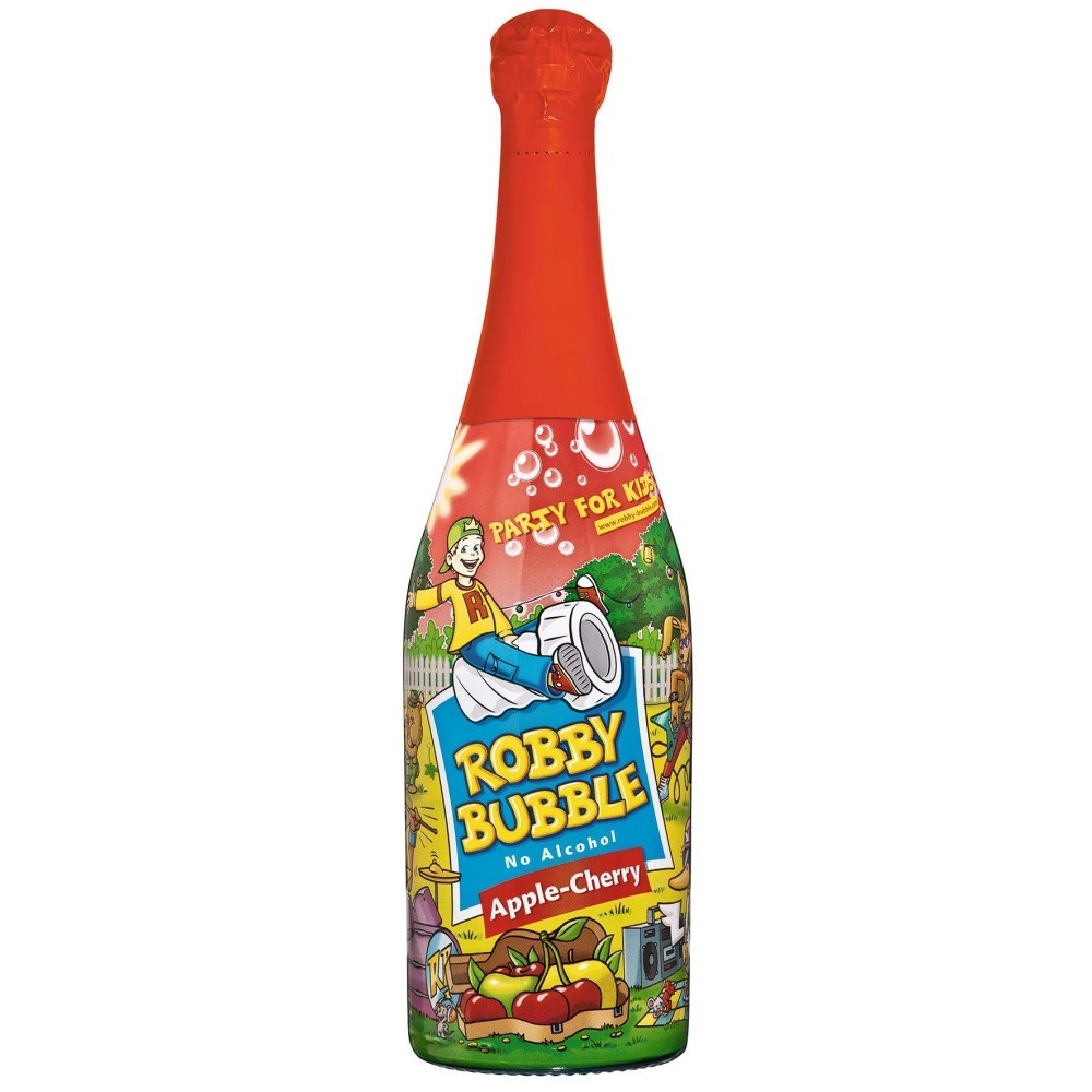 Robby Bubble Apple-Cherry Party for Kids ohne Alkohol - Perlwein ...